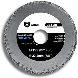 Diamond blade for metal GRAFF Black 125 mm