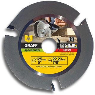 Angle grinder blade for wood GRAFF Speedcutter 125 mm